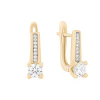 Золотые серьги с фианитами ЛФЕ01-З-59844-З