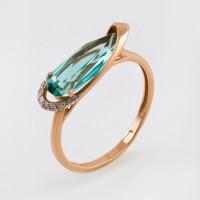 Золотое кольцо с ситалом и фианитами НЮ09415801010050061