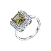 Серебряное кольцо с султанитами и фианитами СЫ210004-289-32