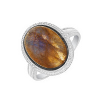 Серебряное кольцо с лабрадоритами 9В13200300