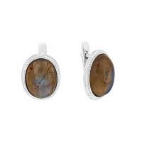 Серебряные серьги с лабрадоритами 9В23200300