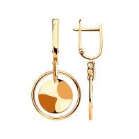 Золотые серьги подвесные ДИ028660