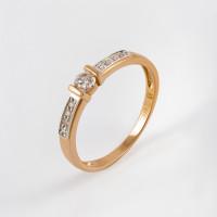 Золотое кольцо с бриллиантами ЫЗ5-2256-103-1К
