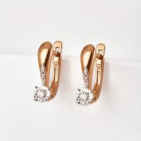 Золотые серьги с бриллиантами ЫЗ5-2188-103И2-2К