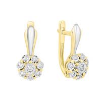 Золотые серьги с бриллиантами ЫЗ5-2181-103И1-2Ж