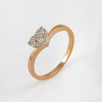 Золотое кольцо с бриллиантами ЫЗ5-2647-103ИНВ-1К