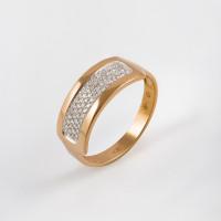 Золотое кольцо с бриллиантами ЫЗ5-2547-103-1К