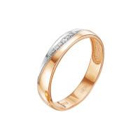 Золотое кольцо обручальное с бриллиантами ЛХ07-00069