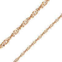 Золотая цепочка БЮ11030022750 плетение Сингапур
