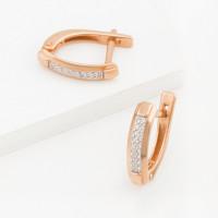 Золотые серьги с бриллиантами ДПБР120577