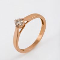Золотое кольцо с бриллиантом Якутия