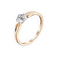 Золотое кольцо с бриллиантом ИМК0134-120