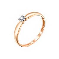 Золотое кольцо с бриллиантом ИМК4109-120