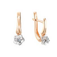 Золотые серьги с бриллиантами ИМС0134-120