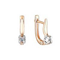 Золотые серьги с бриллиантами ИМС0237-120