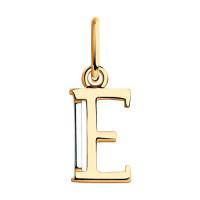 Золотая подвеска Буква Е ДИ035560