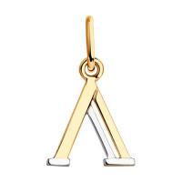 Золотая подвеска Буква Л ДИ035561