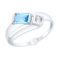Золотое кольцо с топазами и фианитами ДИ715053