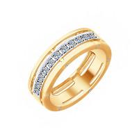 Золотое кольцо с бриллиантами ДИ1011788