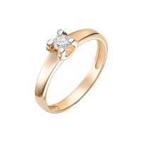 Золотое кольцо с бриллиантом ИМК2251-120