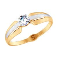 Золотое кольцо с фианитами ДИ017805