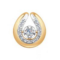 Золотая подвеска с бриллиантами ДИ1030592