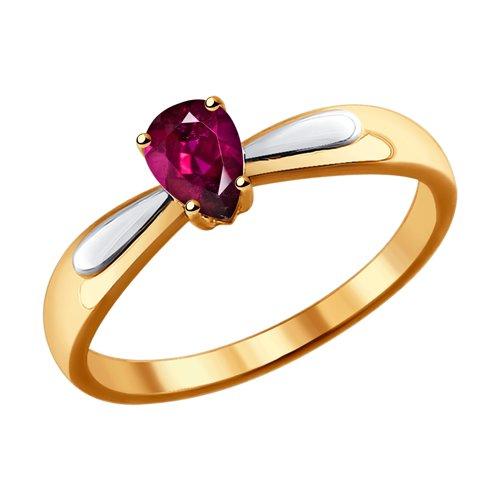 Золотое кольцо с рубиным ДИ4010627
