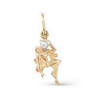 Золотой знак зодиака с фианитами