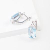 Серебряные серьги с топазами и фианитами 3ВС620-089Т