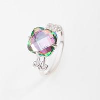 Серебряное кольцо с кварцем плавленым 3ВК660-005КМ