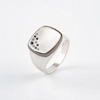 Серебряное кольцо с фианитами ДП1100064С