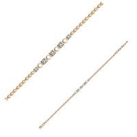 Золотой браслет с бриллиантами ДПБР770217