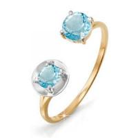 Золотое кольцо с топазами ДП311172