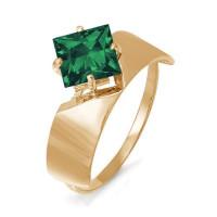 Золотое кольцо с кварцем ДП311442