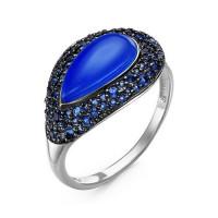 Серебряное кольцо с кварцем плавленым ДПС117954