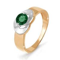 Золотое кольцо с кварцем ДП311018