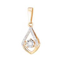 Золотая подвеска с бриллиантами КРП3237453/91