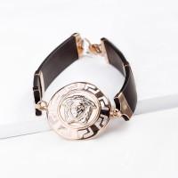Каучуковый браслет с золотой вставкой