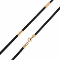 Каучуковый шнурок с золотой вставкой НР6032-4В