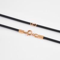 Каучуковый шнурок с золотой вставкой НР6032-6
