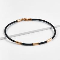 Каучуковый браслет с золотой вставкой НР7387