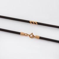Каучуковый шнурок с золотой вставкой НР6032-1с