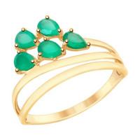 Золотое кольцо с агатами