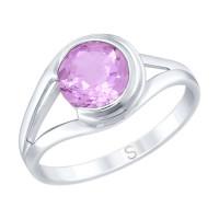Серебряное кольцо с аметистами ДИ92011732