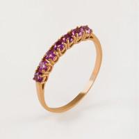 Золотое кольцо с аметистами ЮИК120-1515ам