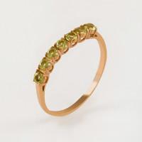 Золотое кольцо с хризолитами ЮИК120-1515хр