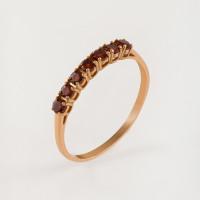 Золотое кольцо с гранатами ЮИК120-1515гр