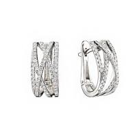Золотые серьги с бриллиантами ИМС0427-220