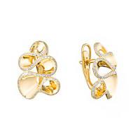 Золотые серьги с бриллиантами ИМС0446-320