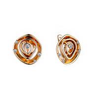 Золотые серьги с бриллиантами ИМС0477-320
